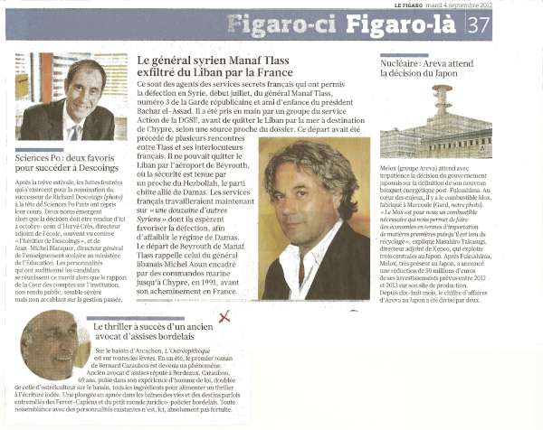 article figaro du 4 sptembre 2012